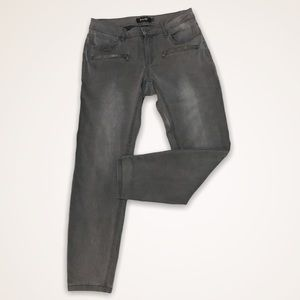 NANETTE LEPORE Faded Gray Wash Skinny Ankle Jeans